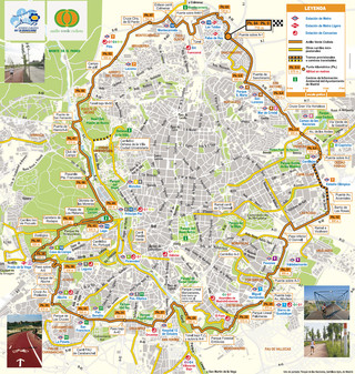Plano de carriles bici de Madrid
